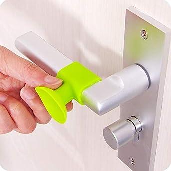 Ochoos Practical Silicone Handles Door Protective Pad Lock ...