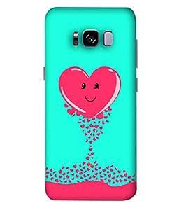 ColorKing Samsung S8 Case Shell Cover - Heart Multi Color