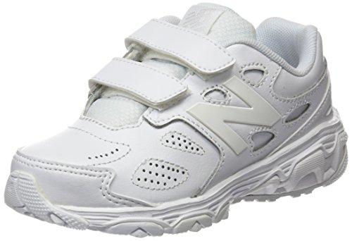 New Balance Unisex-Kinder 680 Laufschuhe Weiß (White/white)
