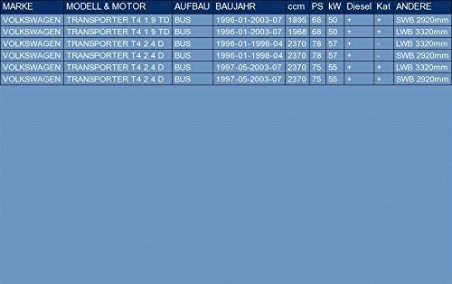 ETS-EXHAUST 51959 Silencioso Trasero pour TRANSPORTER T4 1.9 TD 2.4 D BUS 68//78//75hp 1996-2003 el kit de montaje completo
