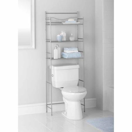 3-Shelf Bathroom Space Saver with Easily Handles, Satin Nickel Finish by (Brescia)