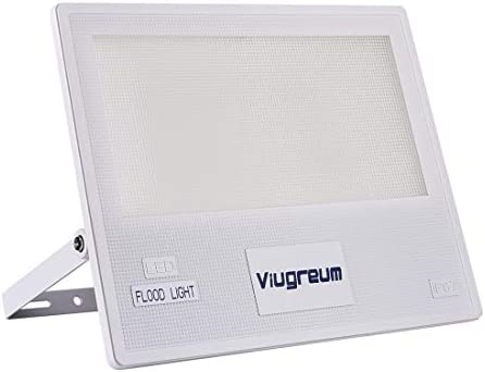 Viugreum LED Flood Light, 200W 16000LM Outdoor Work Lights, 6500K Daylight White IP67 Waterproof Outdoor Floodlights Security Wall Lights for Garage, Garden, Lawn and Yard, Warehouse, Factory, Square