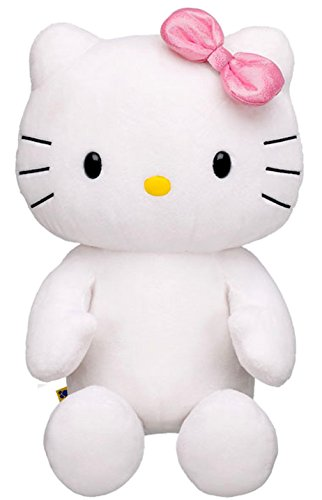 Build a Bear Hello Kitty Pink Shimmery Bow Large White 18 in. Stuffed Plush HK Sanrio Toy Animal (Hello Kitty Build A Bear)