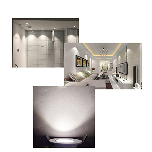 LED Recessed Downlight ZDPCYT 110V Dimmable 3WCOB CRI80 LED Spotlight Lamp Daylight 2 inch Down Lights Adjustable Angle Recessed Lighting Kits 5000K-5500K Ceiling Lights Pack of 4 with LED Driver by ZDPCYT (Image #5)