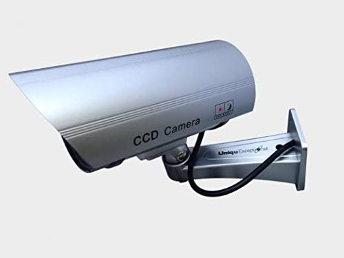 UniquExceptional UDC4silver Fake Security Camera with 30 Illuminating LEDs Silver