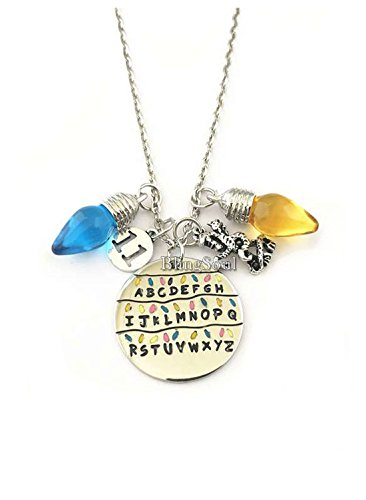 BlingSoul Stranger Thing Necklace Jewelry Merchandise - ABCD Necklace for Girls