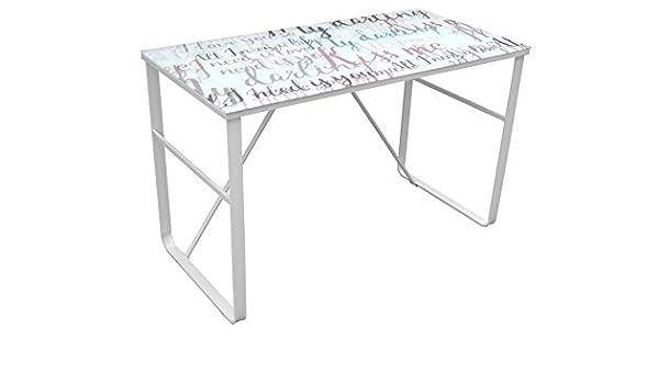 Mesa de escritorio modelo farben darling con estructura blanca ...
