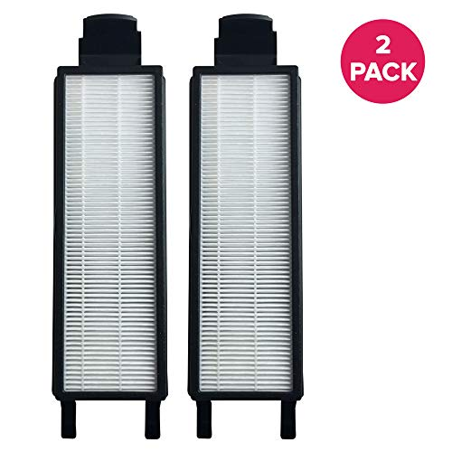 Crucial Vacuum Air Filter Replacement Part # 61830, 61830A, 61840 - Compatible with Eureka Vacs - Eureka HF-5 HEPA Style Filter Fits Eureka Sanitaire, Boss & Genesis for Home Use - Washable (2 Pack) ()