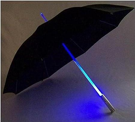 Leayao - Paraguas con luz LED creativa, el mejor regalo para nuestra protección diaria de la noche