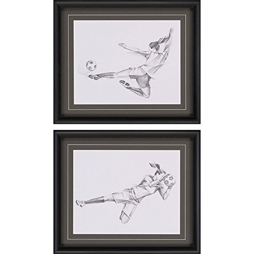 Paragon Picture Gallery 1919 ''Soccer Sketch'' Wall Decor, 2 Pack by Paragon Picture Gallery