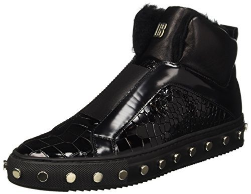 Mujer Doll Db Bikkembergs 796 er Brillo Leather Shoe W Zapatillas Mid Negro para Altas P1xR6wdqWx