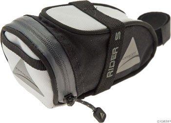 Axiom Rider DLX Seat Bag: White/Black; SM