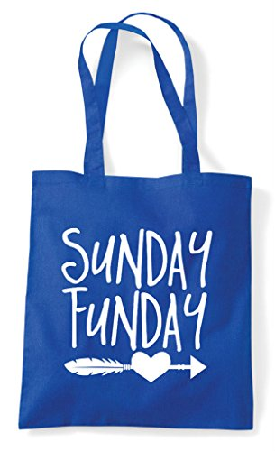 Bag Blue Feather Funday Sunday Royal Shopper Statement Tote Heart q86XA