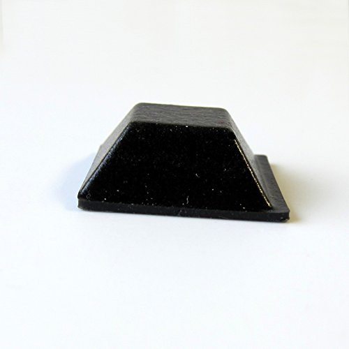 Black Rubber Feet Adhesive Rubber Bumper, Tall Square Self Stick Bumpers, Black Bumper Pads - 84 Pack by Cloverdale Supply (Image #4)