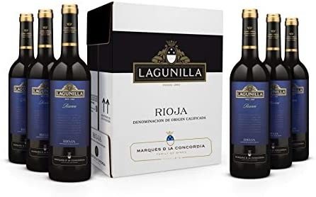 Caja de Lagunilla Reserva Vino Tinto Reserva D.O Rioja - 6 botellas x 750 ml. - 4500 ml: Amazon.es: Alimentación y bebidas