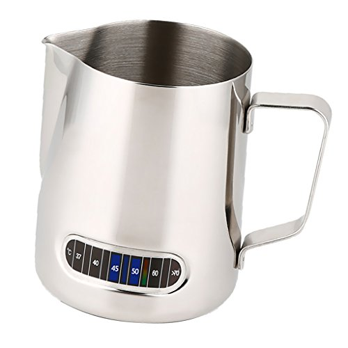 MagiDeal Coffee Tool Milk Frothing Pitcher Jug with Thermometer Espresso Tamper 58mm by MagiDeal (Image #9)