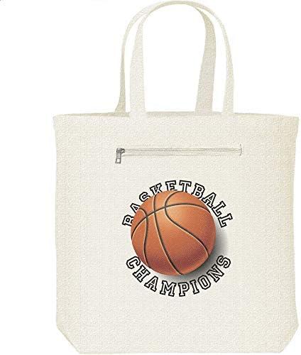 エムワイディエス(MYDS) バスケットボール・チャンピオンズ/キャンバス トートバッグ・ファスナー ポケット付