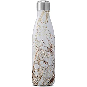 S'well Vacuum Insulated Stainless Steel Water Bottle, 17 oz, Calacatta Gold