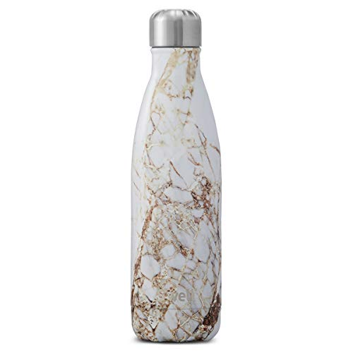 Swell Vacuum Insulated Stainless Steel Water Bottle, 17 oz, Calacatta Gold