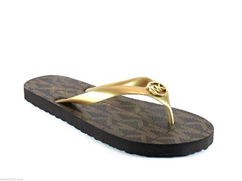 Michael Kors Flip Flops Size 6 Gold for Women
