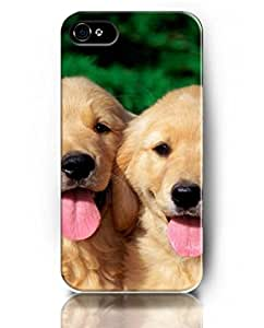 Cases for iPhone 5 5S, UKASE Cute Dog Theme Case Covers - Two Lovely Dogs