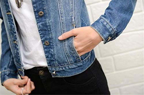 Tendenza Cappotto Coat Ragazze Eleganti Stile Donna Blau Lunga Manica Giacca Distressed Autunno Jeans Primaverile Anaisy Giovane Fidanzato Fashion Bavero q4aT7fnw