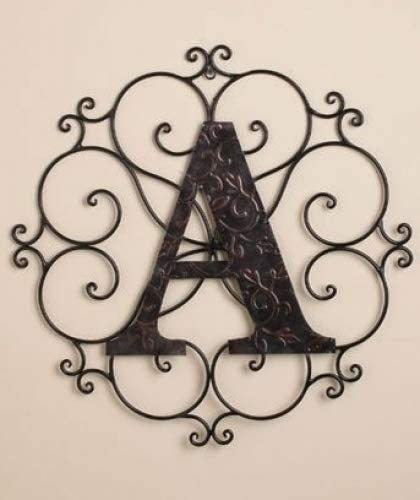 Personalized Metal Embossed Monogram Wall Hanging A