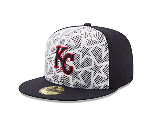 Mlb 59fifty Stars - MLB Kansas City Royals Men's 2016 Stars & Stripes 59Fifty Fitted Cap, Size 7 1/4, Navy