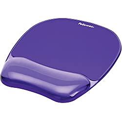 Gel Crystal Transparent Mousepad & Wrist Rest - Purple