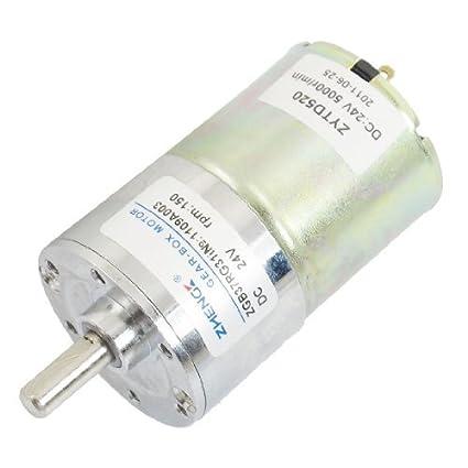 DealMux 37 milímetros de diâmetro Parts Grill Eletrônico motor engrenado 150 rpm 24VDC
