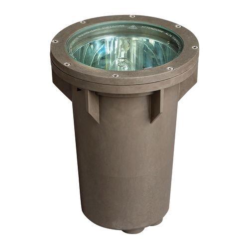 Hinkley Lighting 51070BZ 120V Line Voltage Small In-Ground Well Light, 70 Watt Metal Halide Light Bulb, Bronze
