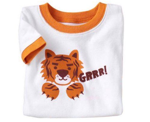 LaLaMa Little Boys' Tiger Animals Sleepwear Suits Outfits 2pc Tops+Pants Sets 5T