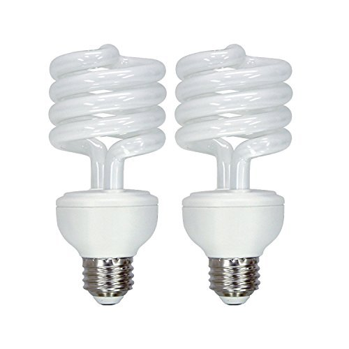 3 Way Cfl Bulbs - GE Lighting Energy Smart CFL 3-Way Soft White 16/25/32-Watt (40/75/125-watt Replacement) T3 Spiral Light Bulb with Medium Base (2 Bulbs)