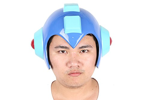 [XCOSER Mega Man Helmet Mask Costume Props Accessories for Adult Halloween] (Adult Megaman Costumes)