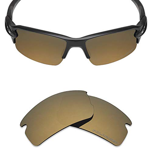 Bronze Polarized Accessories - Mryok+ Polarized Replacement Lenses for Oakley Flak 2.0 - Bronze Gold