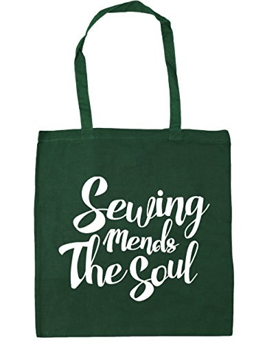 Soul Bag 10 Sewing Green Beach Gym Tote Mends Bottle litres The x38cm Shopping 42cm HippoWarehouse ntWH8a