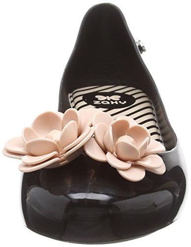 Noir Contrast Black Contrast Zaxy Black Blossom Kids Ballerines Fille 50837 pRURqa