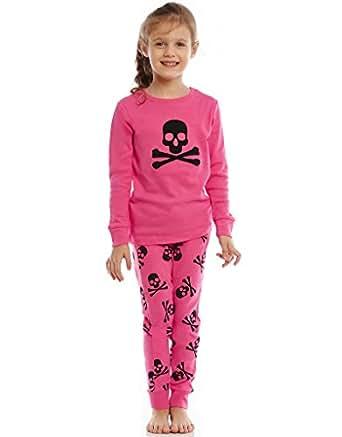 Amazon.com: Leveret Skull Pink 2 Piece Pajama 100% Cotton