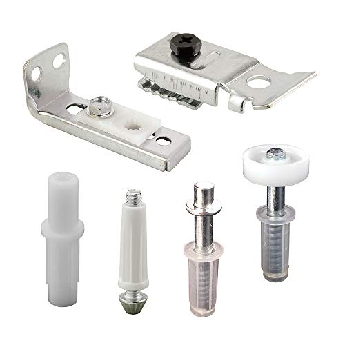 Prime-Line N 7534 Bi-Fold Door Hardware Repair Kit, Includes Top and Bottom Brackets, Top and Bottom Pivots and Guide Wheel, Pack of 6 Components