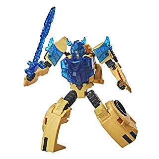 Transformers Bumblebee Cyberverse Adventures Battle Call Trooper Class Bumblebee, Voice Activated Energon Power Lights, Ages 6 and Up, 5.5-inch