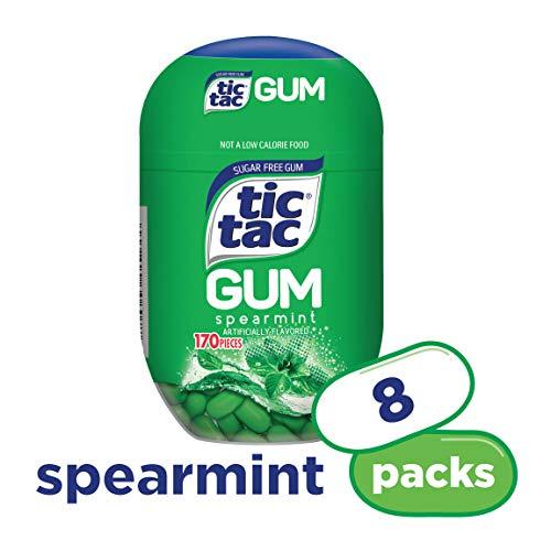Tic Tac Sugar Free Gum Spearmint, 170 Count, pack of -