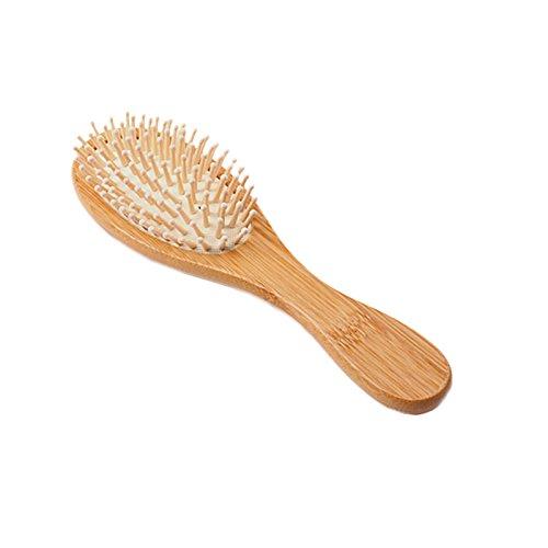 Moda pelo de madera ventilación cepillo para polvo Pinceles Cuidado del Cabello y masaje peine