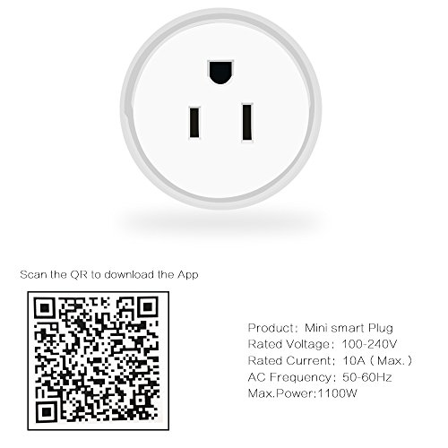 Guxen Mini Wifi Smart Plug Compatible with Alexa,Google Home Mini,No Hub Required, Remote Control by Cellphone App with Timing Function (White 2 Pack) by Guxen (Image #3)