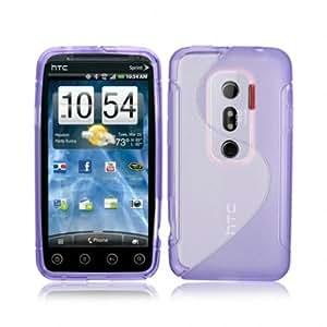 1xS-Curve TPU Gel Skin Case Cover For HTC EVO 3D --- Color:Black