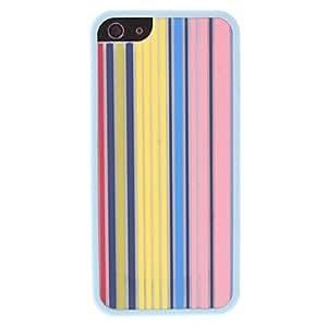 ZXM-Diseño exquisito patrón de rayas de colores 2 en 1 parachoques y la caja trasera para el iphone 5/5s