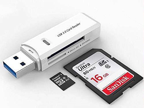 USB 3.0 Micro SD Card Reader for PC, Laptop, Mac, Windows, Linux, Chrome, SDXC, SDHC, SD, MMC, RS-MMC, Micro SDXC Micro SD, Micro SDHC Card and UHS-I Cards