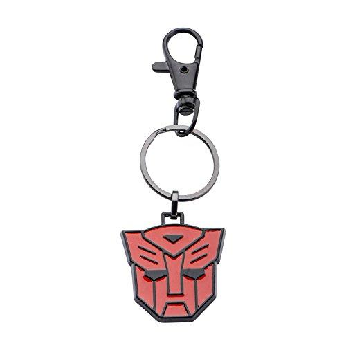 Optimus Prime Ring (Hasbro Jewelry Unisex Adult Transformers Base Metal & Black IP Autobot Logo Key Chain, Black/Red, One)