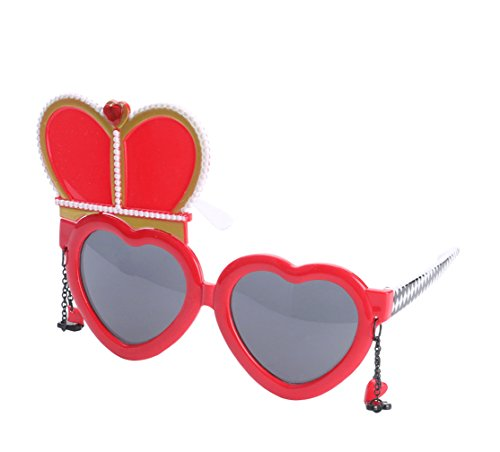 disfraces Accesorios la Atrezzo de Gafas decoración sol Reina Gafas de del partido Good para Night qTP7p