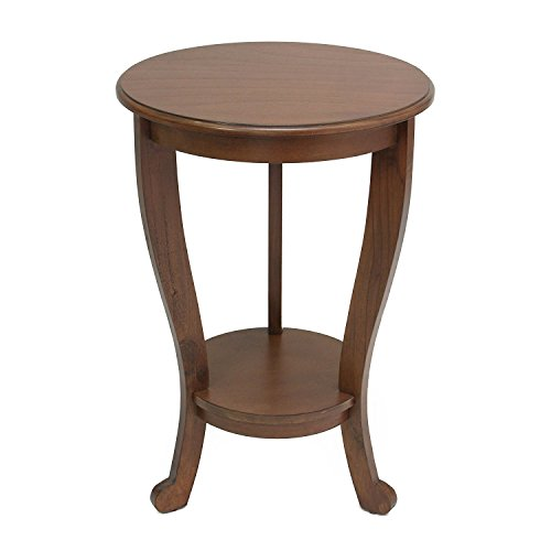PierSurplus Wooden Round Accent Table/Side Table/End Table - Cherry Brown Product SKU: HD223577