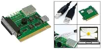 SODIAL(R) Placa Madre USB & PCI Analizador Medidor Tarjeta de ...